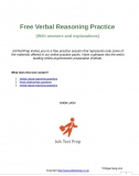 Free Verbal Reasoning Practice  (With answers and explanations)